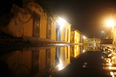 colonial house: a colonial house street in the town of Coro in the west of Venezuela.