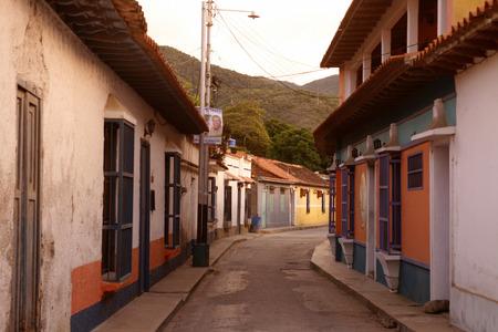 southamerica: the village of choroni on the caribbean coast in Venezuela.