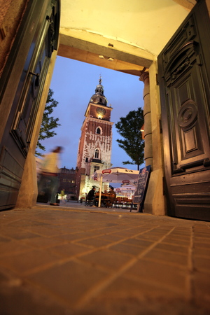 rynek: the architecture at the Rynek Glowny square in the old town of Cracow in Poland in east Europe.