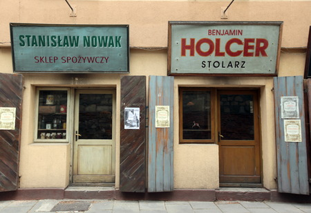 east europe: a shop in Kazimierz in the old town of Cracow in Poland in east Europe.