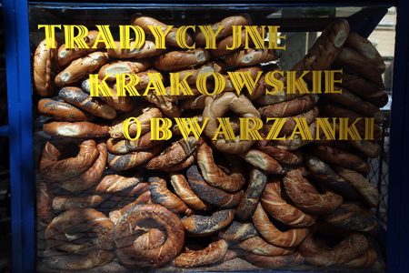 a shop at the Rynek Glowny square in the old town of Cracow in Poland in east Europe.