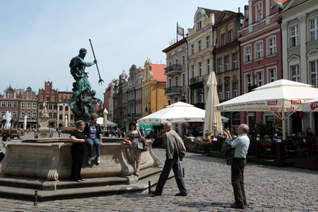 rynek: the Stray Rynek square in the old town of Poznan in Poland in east Europe.