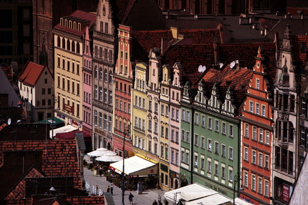 rynek: the Stray Rynek square in the old town of Wroclaw in Poland in east Europe. Editorial