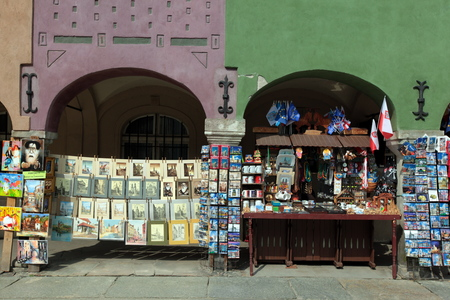 rynek: a shop at the Stray Rynek square in the old town of Poznan in Poland in east Europe.