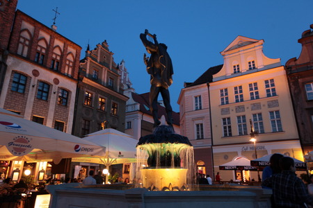 east europe: the Stray Rynek square in the old town of Poznan in Poland in east Europe.