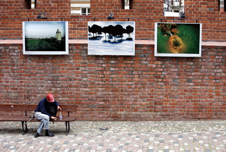 east europe: the citywall in the old town  in the City of Warsaw in Poland, East Europe. Editorial