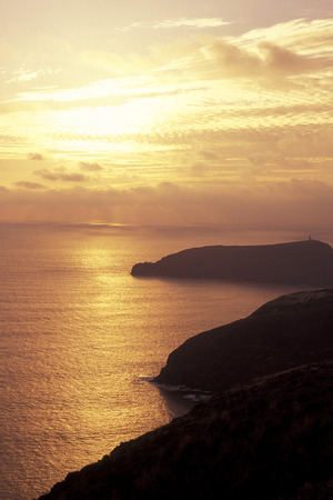 atlantic ocean: the coast on the Island of Porto Santo ot the Madeira Islands in the Atlantic Ocean of Portugal.