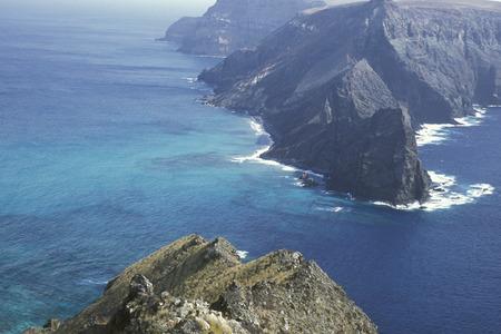 de kust op het eiland Porto Santo ot de Madeira in de Atlantische Oceaan van Portugal.