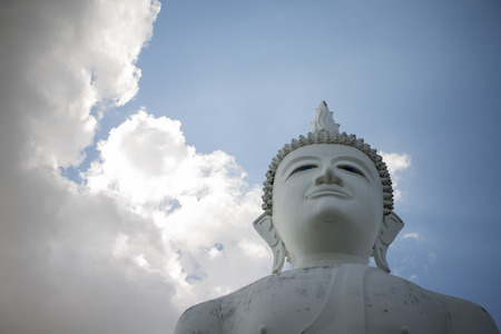 surin: the Big Buddha at the Wat Khao Phanom Sawai near the city of Surin in Isan in Thailand.