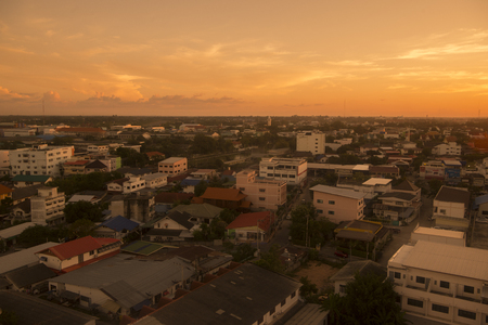 surin: a view of the city of Surin in Isan in Thailand. Editorial