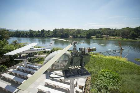world war 2: the World War 2 Museum at the River Kwai of the Burma-Thailand Railway in the City of Kanchanaburi in Central Thailand in Southeastasia.