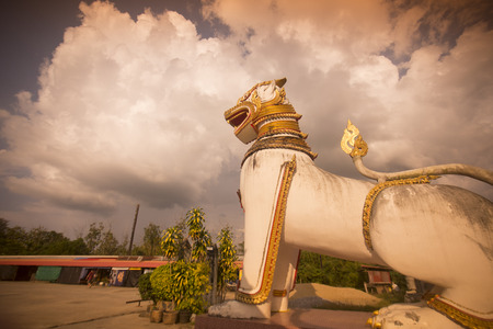 wiwekaram: the Wat Wang Wiwekaram in the Village of Sangkhlaburi north of the City of Kanchanaburi in Central Thailand in Southeastasia.