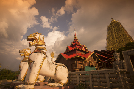 the Wat Wang Wiwekaram in the Village of Sangkhlaburi north of the City of Kanchanaburi in Central Thailand in Southeastasia.