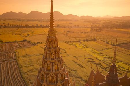 sua: the wat tham sua near the City of Kanchanaburi in Central Thailand in Southeastasia.