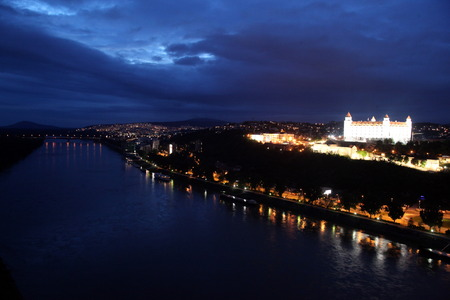 east europe: the Fort in the old town of the city  Bratislava in Slovakia in east europe.