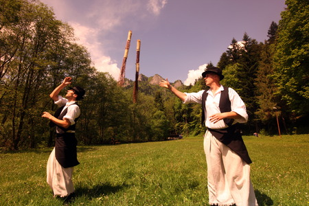 folk festival: a traditional Folk Festival in the town of Cerveny Klastor in Slovakia in east europe.