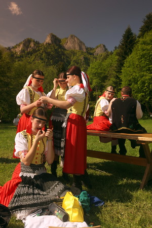 trachten: Europa, Osteuropa, Slowakei, Polen, Grenze, Cerveny Klastor, Folklore, Festival, Fest, Tranchtenfest, Tracht, Kultur, Sommer,