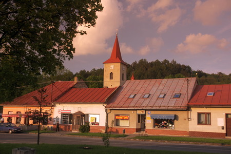 tantra: the town of Spisska Stara Ves in the tantra in Slovakia in east europe.
