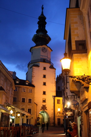 east europe: the old town of the city  Bratislava in Slovakia in east europe. Editorial