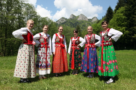 east europe: a traditional Folk Festival in the town of Cerveny Klastor in Slovakia in east europe.