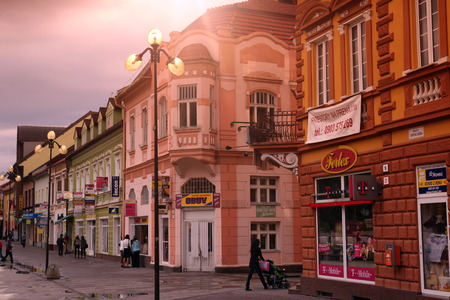 tantra: the town of  Poprad in the tantra in Slovakia in east europe.