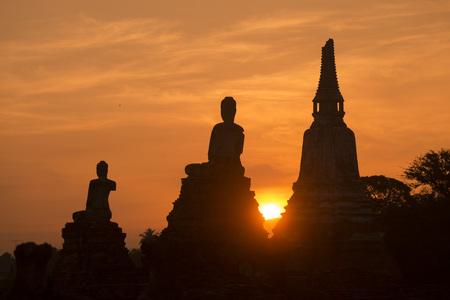 chai: the Wat chai wattanaram in the city of Ayutthaya north of bangkok in Thailand in southeastasia. Stock Photo