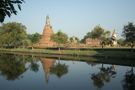 smal: a smal Temple of the Historical park in the city of Ayutthaya north of bangkok in Thailand in southeastasia.