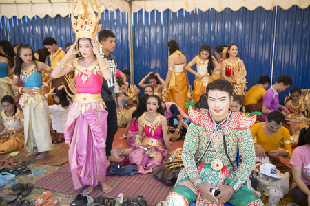 thai dance: Traditional Thai Dance at the Elephant Round-up Festival in the city of Surin in Northeastern Thailand in Southeastasia.