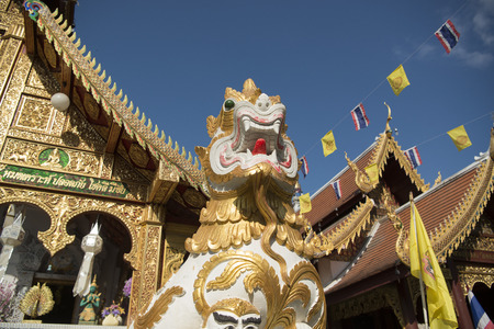 loi: the wat Loi Khroh in the city of Chiang Mai in North Thailand in Thailand in southeastasia.