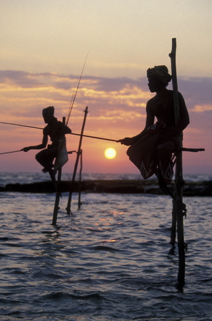 asien: Fishermen at the coast of Weligama in the southwest of Sri Lanka in Asien. Editorial