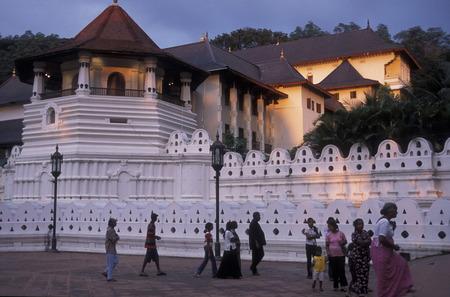 kandy: the Tempel Sri Dalada Maligawa in the town of Kandy of Sri Lanka in Asien. Editorial