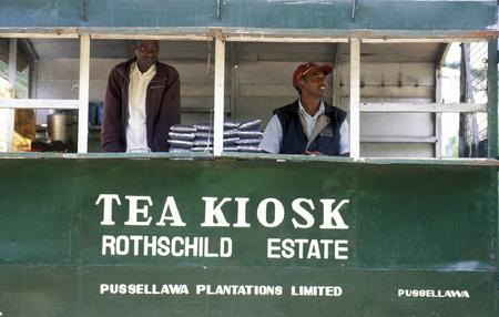 agriculture sri lanka: a tea shop at a tea plantation in the town of Nuwara Eliya in Sri Lanka in Asien. Editorial