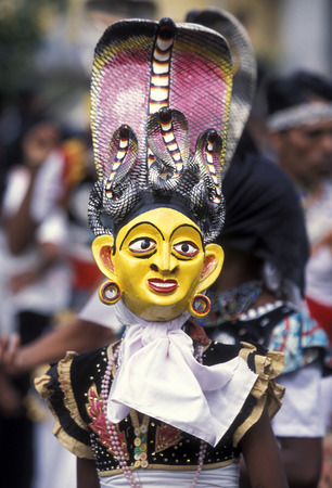 asien: a traditional Festival in December in the town of Dalawella at the westcoast of Sri Lanka in Asien. Editorial