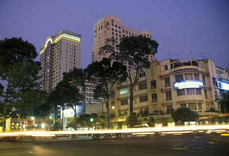 city centre: the city centre of ho chi minh city in Vietnam