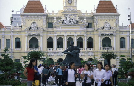 ville: Hotel de Ville or Parliament in the city of ho chi minh city in Vietnam Editorial