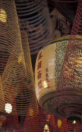 can tho: a chinese temple in the city of Can Tho in the mekong delta in Vietnam Stock Photo