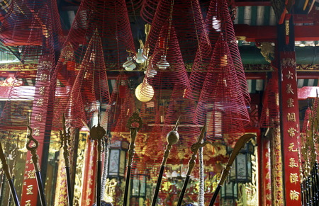 can tho: a chinese temple in the city of Can Tho in the mekong delta in Vietnam Editorial
