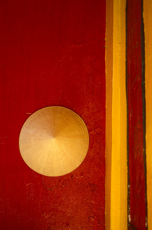 can tho: a vietnamese hut in a chinese temple in the city of Can Tho in the mekong delta in Vietnam Stock Photo