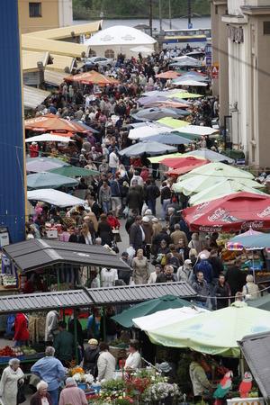 riga: the Riga Centralmarket in the city of riga in latvia in the baltic region in europe. Editorial