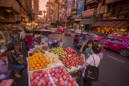 streetlife: The Market Street in the China Town in the city of Bangkok on 7. 12. 2016 in Thailand