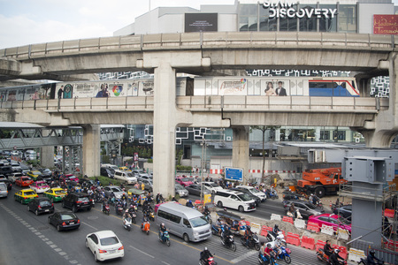 trafic: the trafic at the Siam Square in the city of Bangkok on 7. 12. 2016 in Thailand