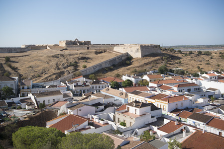 forte: The Forte Sao Sebastiao in the town of Castro Marim at the east Algarve in the south of Portugal in Europe. Stock Photo