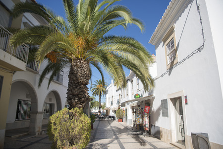 algarve: the old town of Tavira at the east Algarve in the south of Portugal in Europe. Editorial