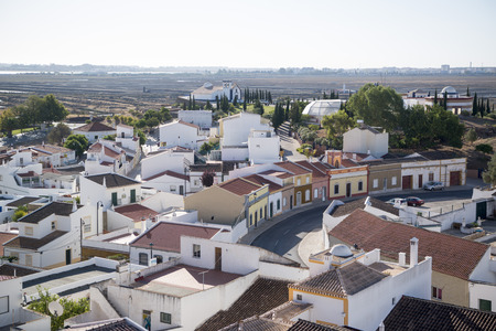 algarve:  the town of Castro Marim at the east Algarve in the south of Portugal in Europe. Stock Photo