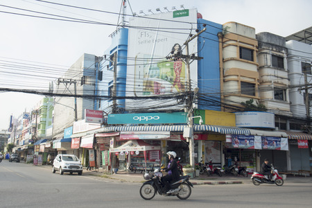 centres: the city centres at the Bus Terminal in the city of Phayao in North Thailand.