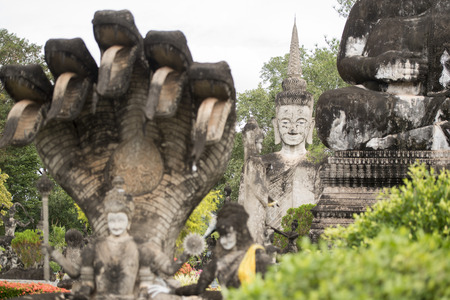 kaew: the Sala Kaew Ku Sculpture Park near the town of Nong Khai in Isan in north east Thailand on the Border to Laos Stock Photo