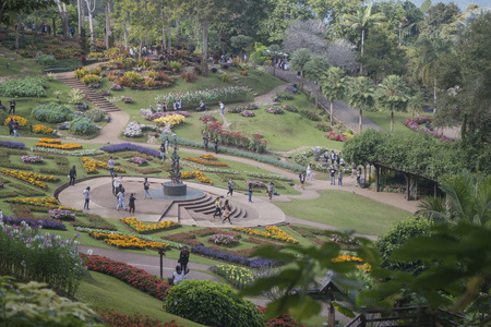 The Mae Fah Luang Ornamental Garden At The Village Of Doi Tung ...