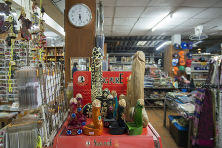 pene: the shop at the house of opium museum at the Golden Triangle of Thailand, Myanmar and Laos in the town of  Sop Ruak at the mekong river in the golden triangle in the north of the city Chiang Rai in North Thailand.