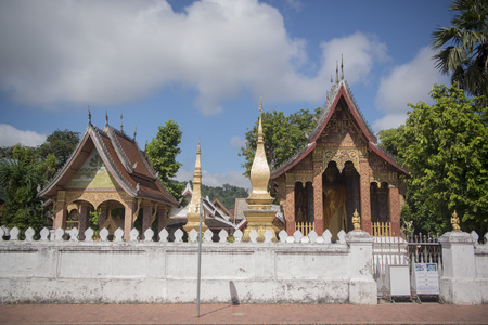 the wat Sensoukaram in the town of Luang Prabang in the north of Laos in Southeastasia. Editorial