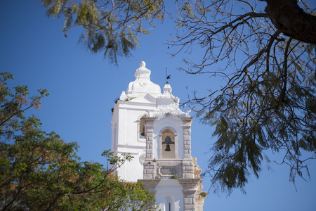 the San Antonio church in the old town in the city of Lagos at the Algarve of Portugal in Europe.